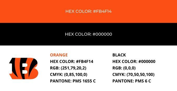 Cincinnati Bengals Color Codes
