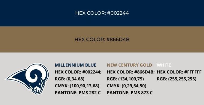 Los Angeles Rams Color Codes