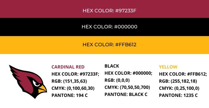 Arizona Cardinals Color Codes